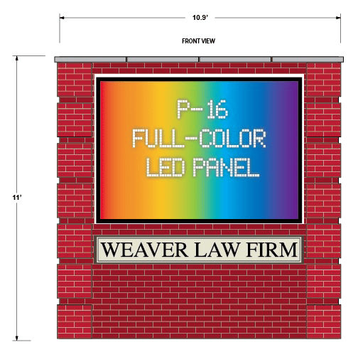 Law Firm Full Color LED Sign Monument Project Design