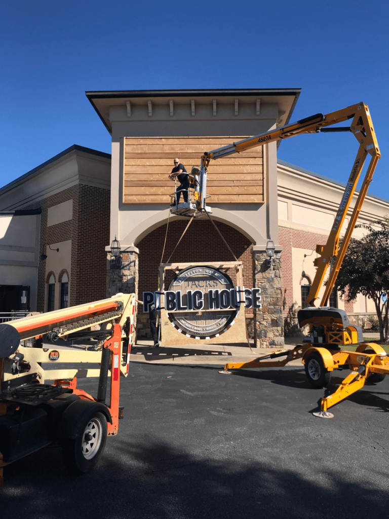 Michael Roebuck Sign Install