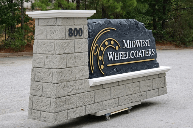 Midwest Wheelcoaters Business Entrance Sign