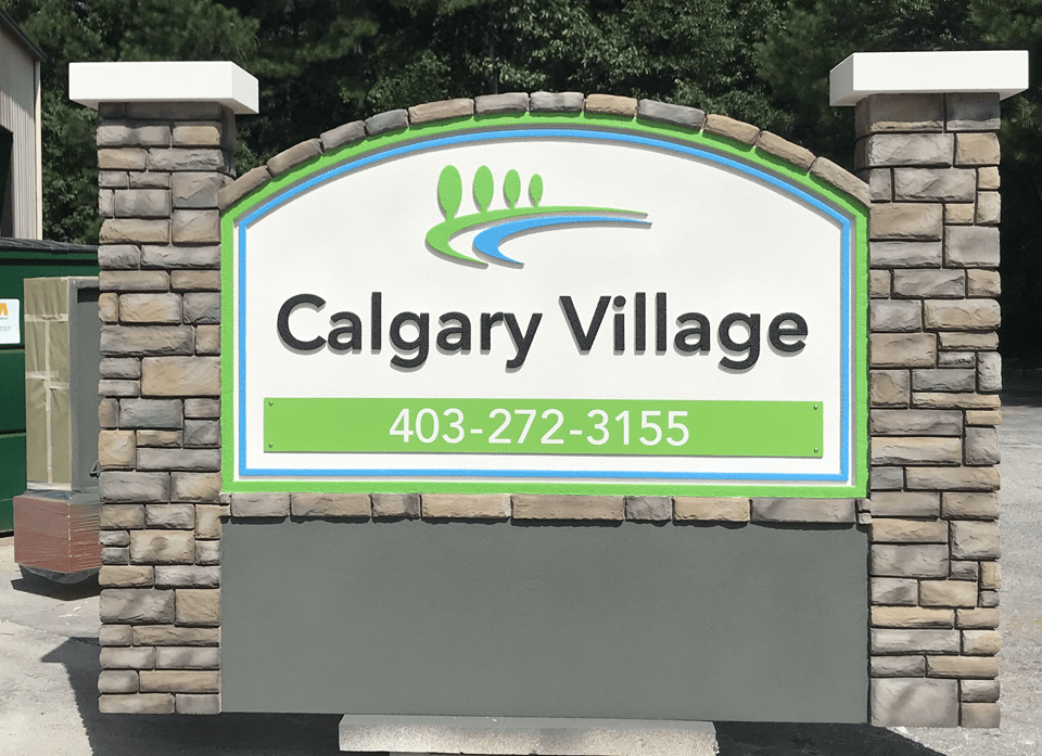 Neighborhood Entrance Sign Monument - Calgary Village