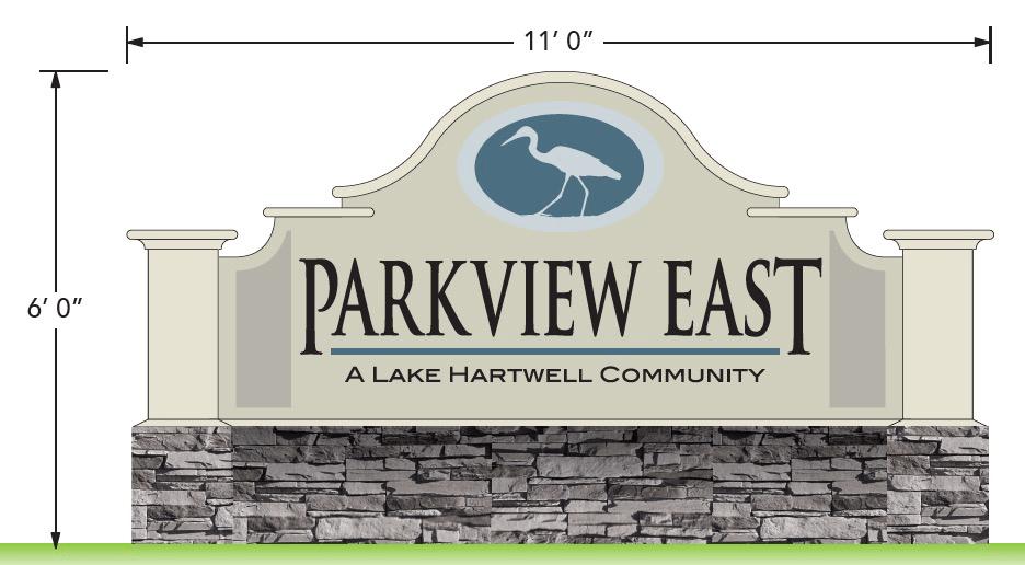 Neighborhood Entrance Sign Monument Design - Parkview East