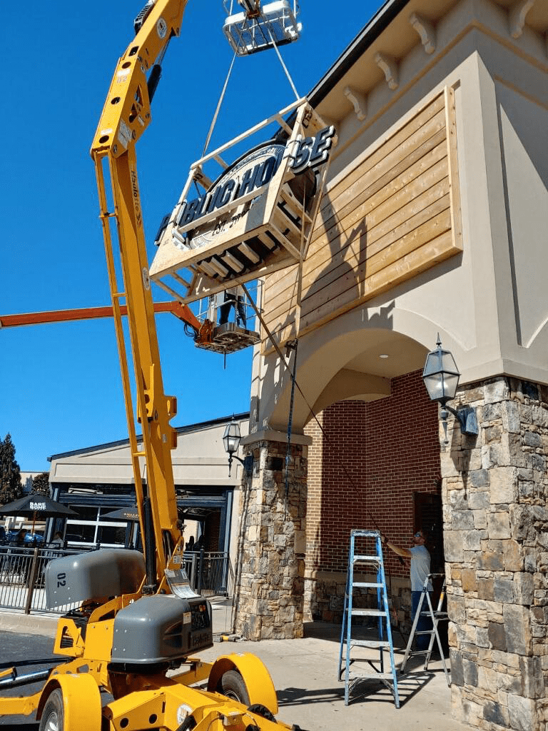 Public House Restaurant Sign Install Lifts