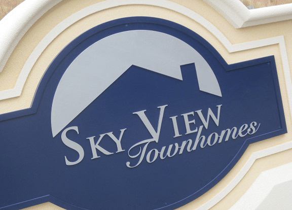 Two Sign Monuments With Same Names - Skyview Townhomes Sign Monument Graphics