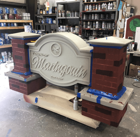 Town of Maringouin Sign Monuments Production