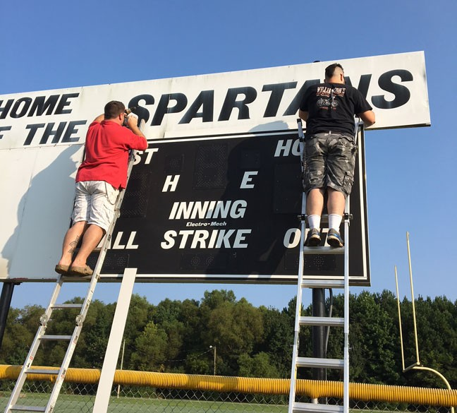 WHHS Old Score Board Graphics