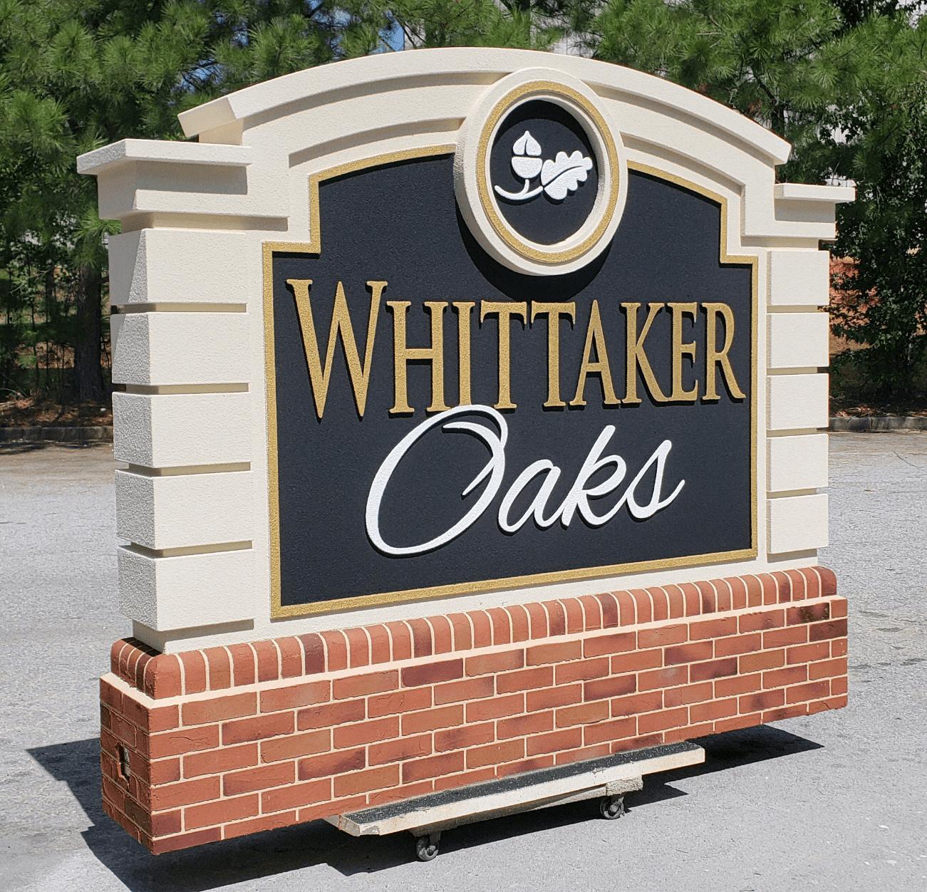 Neighborhood Entrance Sign Monument - Whittaker Oaks