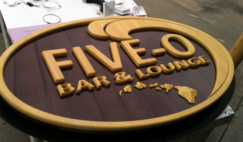 Hand Carved Bar & Lounge Sign