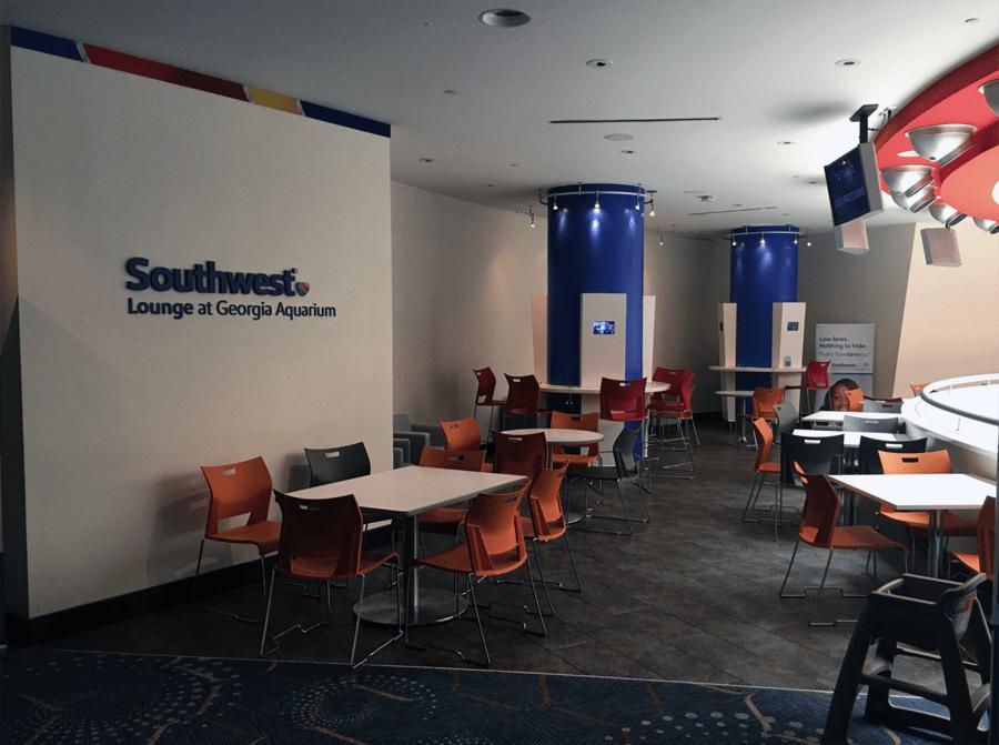 Georgia Aquarium Southwest Lounge - Before