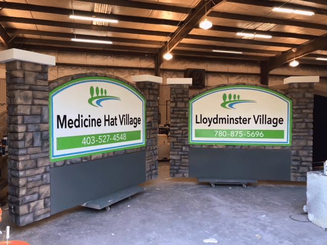 monument sign projects Medicine Hat Village Lloydminister Village