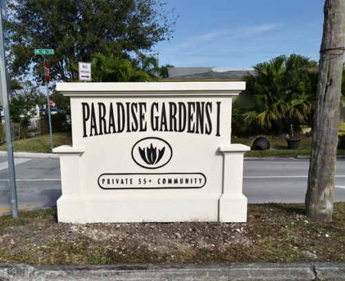 Updated Coastal Neighborhood Entrance Sign