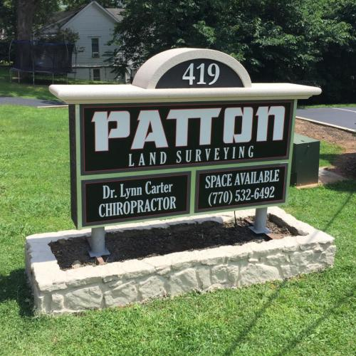 After - Business Entrance Sign Monument for Patton Survey