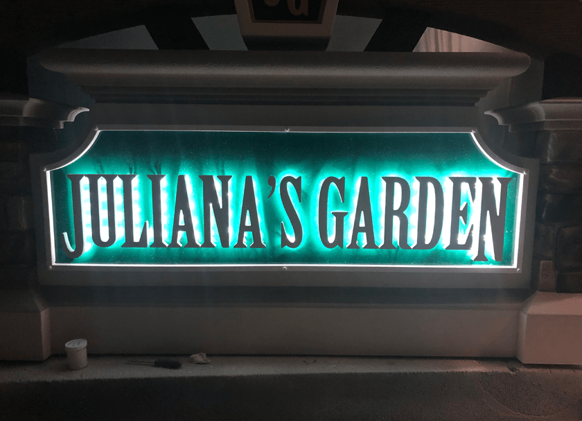 Sign Monument Back-lit LED Letters Halo Glow