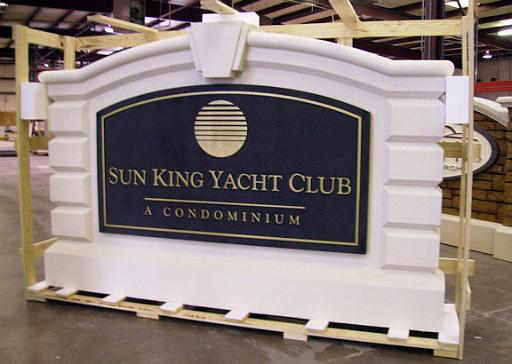 Monument Model #31 Yacht Club entrance sign monument with