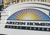 Arizen Homes Sign Monument