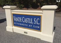 Attorney Law Firm Business Sign Monument with Embossed Sign Panel