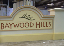 Baywood Hills Entrance Sign Monument