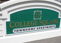 College Square Townhome Sign Monument