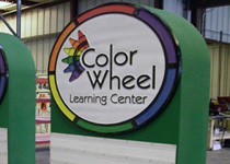 Color Wheel Learning Center Sign