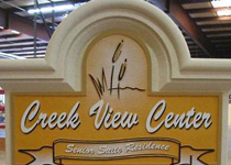 Creek View Center Reader Board Sign