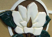 Creekside Magnolia 3-D Carved Emblem