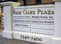 Fair Oaks Tenant Panels Sign Monument