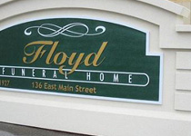 Floyd Funeral Home Sign Monument