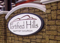 Fortified Hills Baptist Church Sign Monument