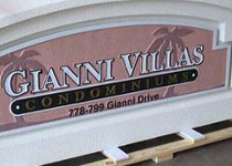 Gianni Villas Sign Monument