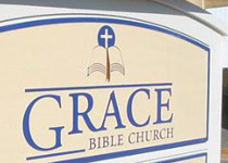 Grace Bible Church Sign Monument