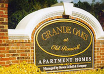 Grande Oaks Old Roswell Sign Monument