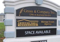 Gross & Company Sign Monument