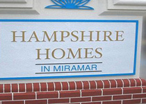 Hampshire Homes Sign Monument