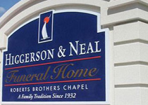 Higgerson & Neal Funeral Home Sign