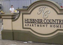 Huebner Country Sign Monument