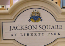 Jackson Square At Liberty Park Sign