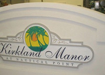 Kirkland Manor Sign Monument