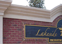 Lakeside Homes Sign Monument