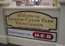 Leander Cedar Park Youth League Sign
