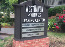Aparment Complex Leasing Center Sign Monument with Changeable Plaques
