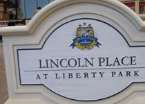 Lincoln Place At Liberty Park Sign