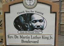 Martin Luther King Jr. Boulevard Sign Monument