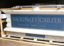 McKinley Carter Wealth Services Crated Sign