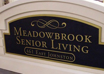 Meadowbrook Senior Living Sign Monument