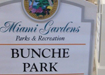 Miami Gardens Bunche Park Sign Monument