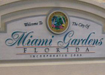 City Of Miami Gardens Florida Entrance Sign