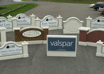 Grouped Sign Monuments Before Shipping