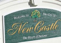 New Castle City Sign Monument
