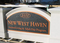 New West Haven Sign Monument