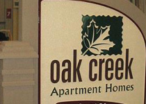 Oak Creek Apartment Homes Sign Monument
