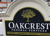 Oakcrest Funeral Services Sign Monument